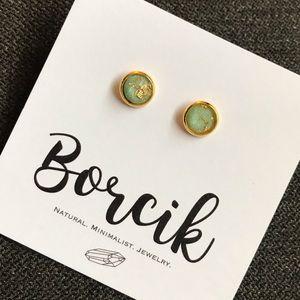 Borcik gold fleck earrings